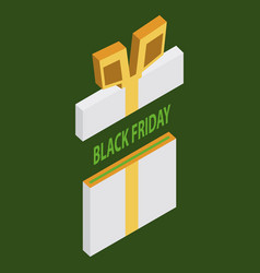 Black friday sale background gift icon vector