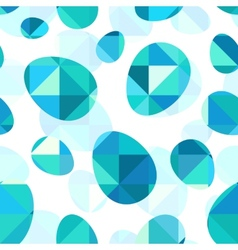 Blue diamond eggs seamless pattern vector image