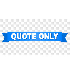 Blue stripe with quote only title vector