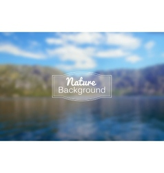 blurred nature background Sea and vector image