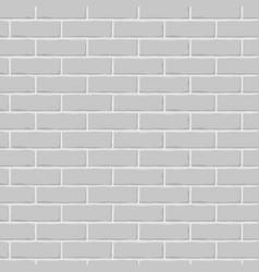 brick wall gray seamless background vector image