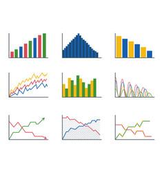 Business data graph analytics elements bar pie vector