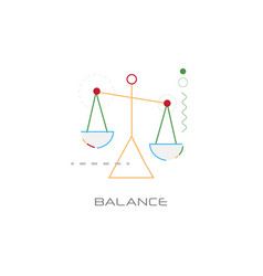 business stability success balance scale icon vector image