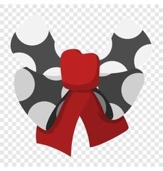 Cartoon black bow vector