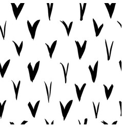 check marks seamless pattern vector image