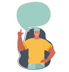 cheerful man with speech bubble vector image