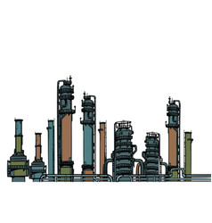 chemical plant oil refining vector image