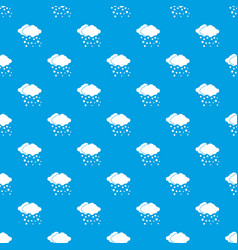cloud and snow pattern seamless blue vector image