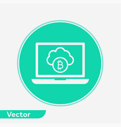 cloud computing icon sign symbol vector image