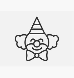 clown toy icon on white background line style vector image