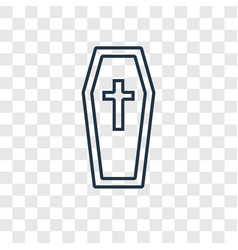 coffin concept linear icon isolated on vector image