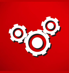cogs - icon vector image