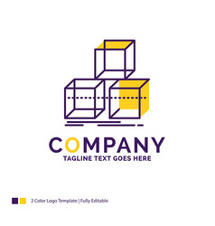 Company name logo design for arrange design stack vector
