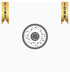 Cupcake web icon design vector