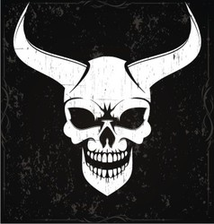 Demon skulls vector