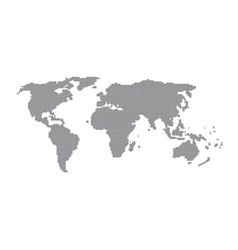Dot of world map vector