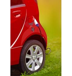 Ecological modern electric car vector