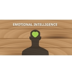 emotional intelligence human head with love symbol vector image