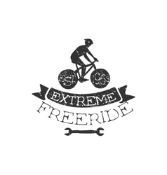 Extreme Freeride Vintage Label vector image