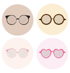 Eye glasses icons set advertising templates vector