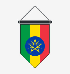 Flag ethiopia sign and icon vertical vector