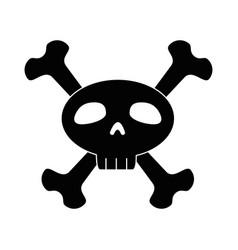 funny skull with bones crossed vector image