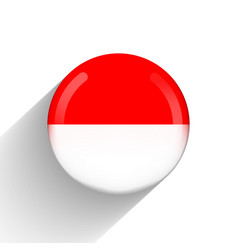 Glass light ball with flag indonesia round vector