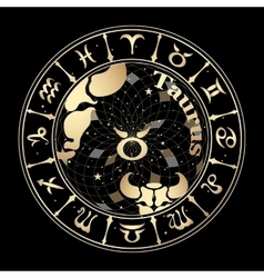 Gold sign of the zodiac vector image