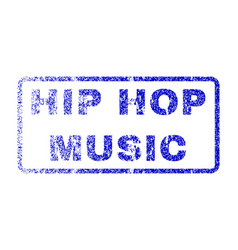 hip hop music rubber stamp vector image