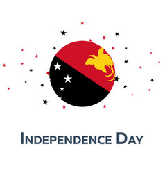Independence day of papua new guinea patriotic vector