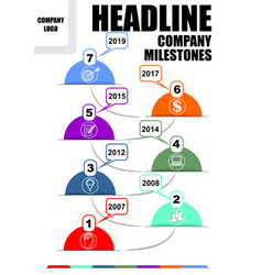 infographic timeline template abstract vector image