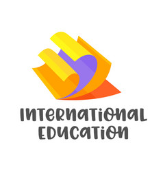 International education banner isolated on white vector
