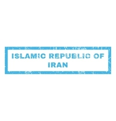Islamic Republic Of Iran Rubber Stamp vector