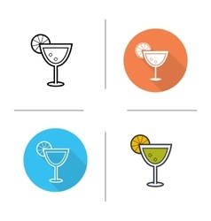 Margarita icons vector