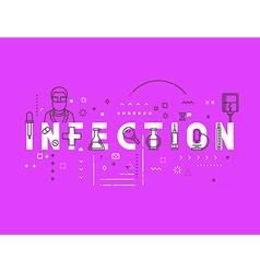 Medicine concept infection vector