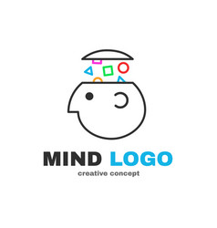 Mind logic creative logo design vector
