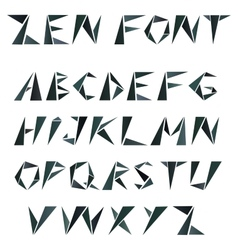 mosaic triangular alphabet in zen style vector image