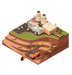Open pit operations composition vector