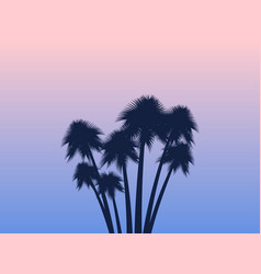 palms tropical landscape rose quartz vector image