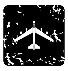 Plane icon grunge style vector