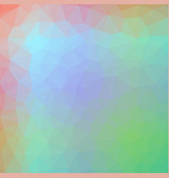 polygonal background in mint spring green and vector image
