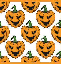 pumpkin for helloween seamless pattern vector image