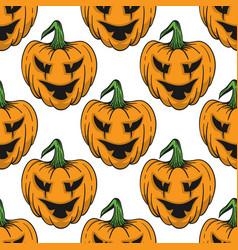 pumpkin for helloween seamless pattern vector image