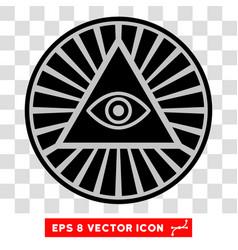 Pyramid eye eps icon vector