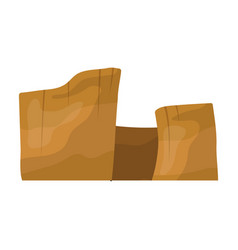 rectangular high mountains of sandstonedesert vector image
