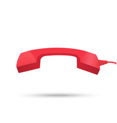 Red phone receiver icon vector