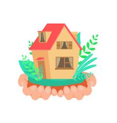 rental property service flat vector image