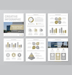Set of brown and gray elements for multipurpose a4 vector