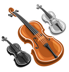 set violins vector image