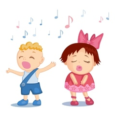 Singing babies vector image